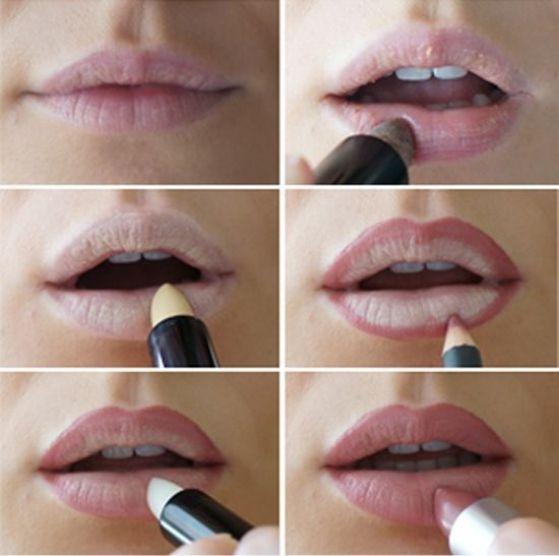 aplicar maquillaje a los labios