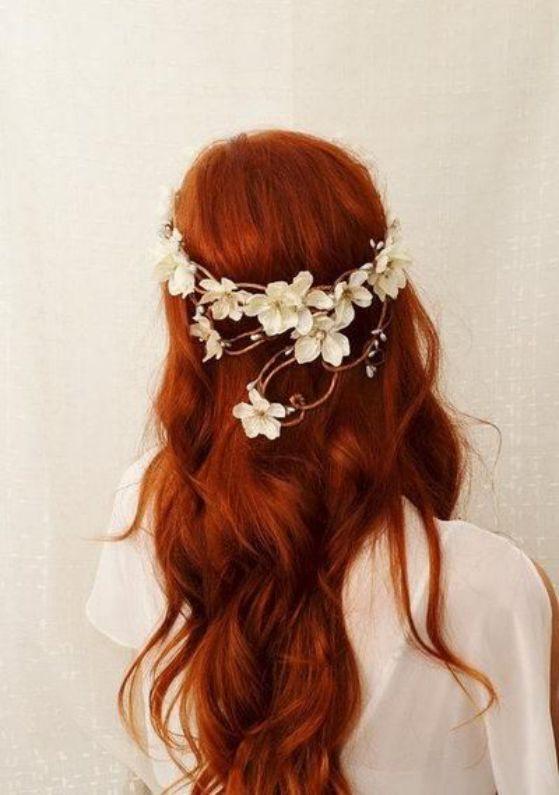 cabello rojo hermoso
