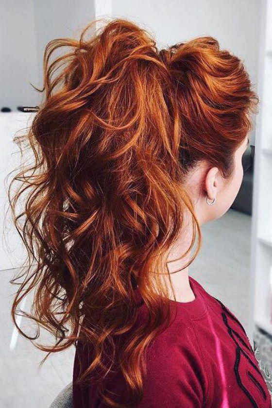 cabello rojo largo