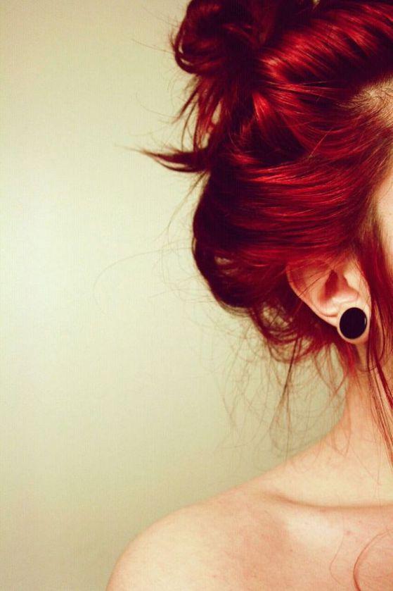 cabello tono rojo