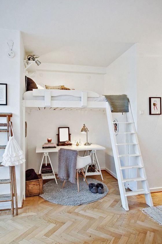 cuartos para jovenes color blanco