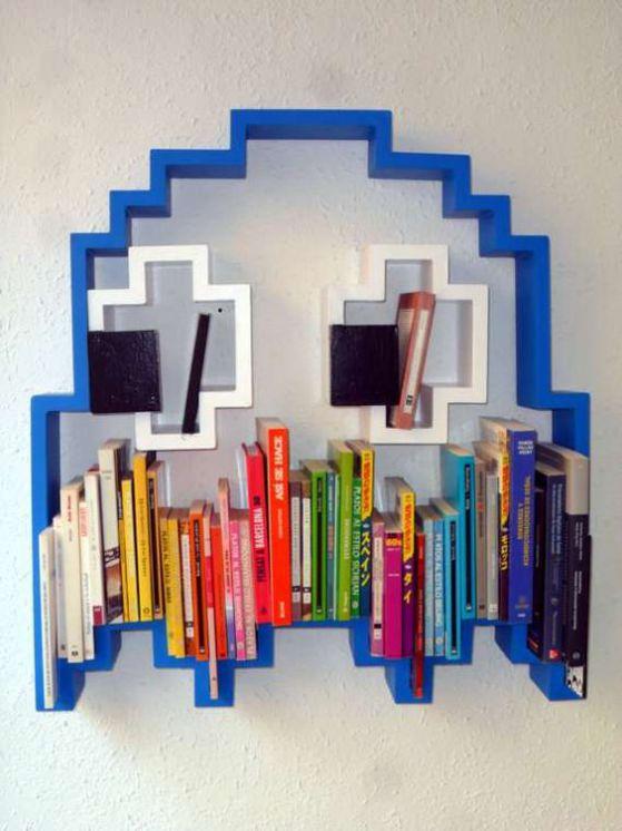 decorar dormitorios con libros
