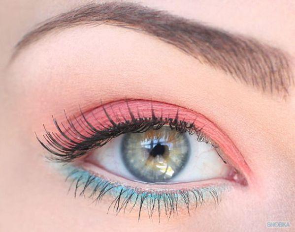 maquillaje para ojos tonos pastel