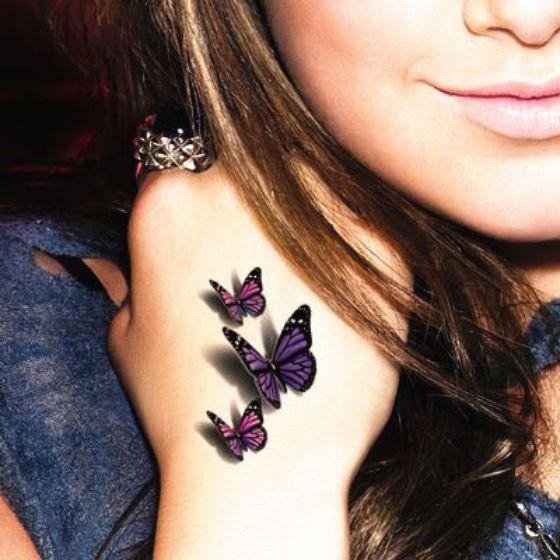 mariposas tatuaje en 3d