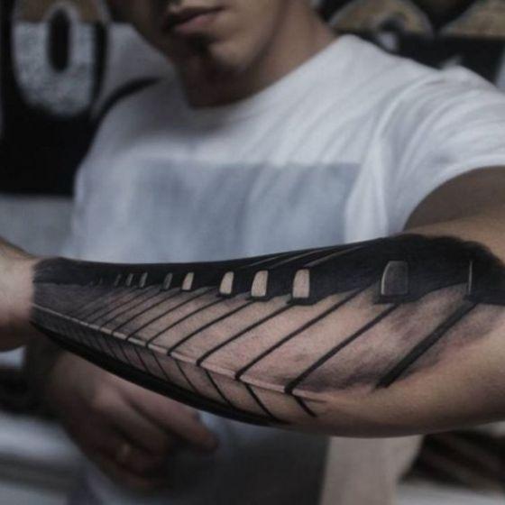piano tatuaje efecto