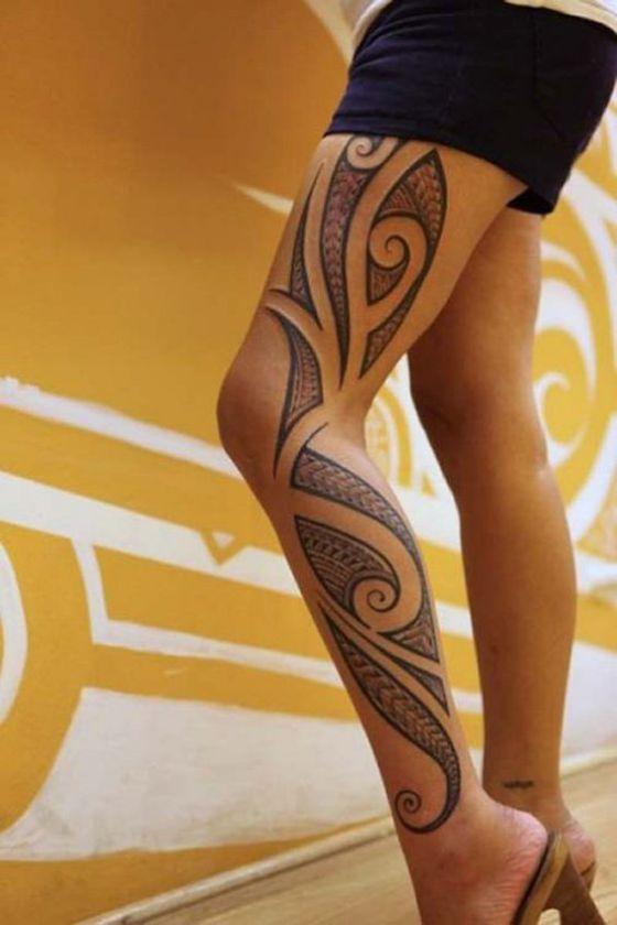tribal en piernas mujeres