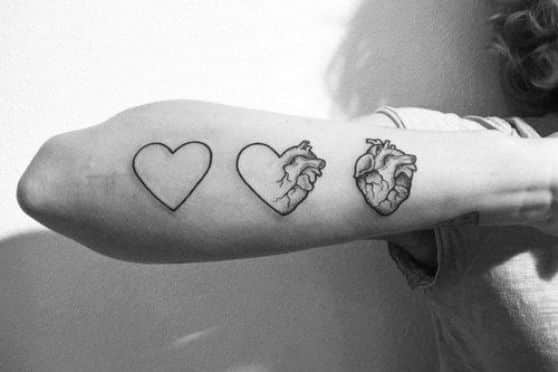 diseño tattoo de corazon
