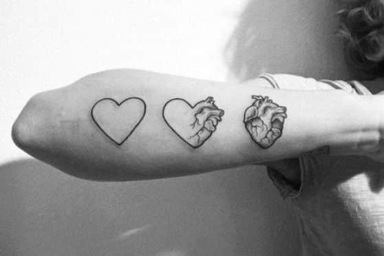 diseño tattoo de corazon
