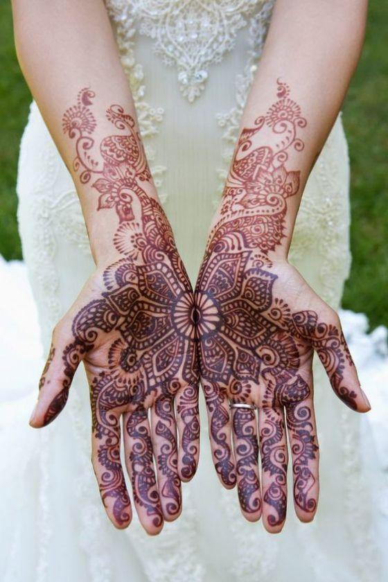 hermoso diseño para tatuaje de henna