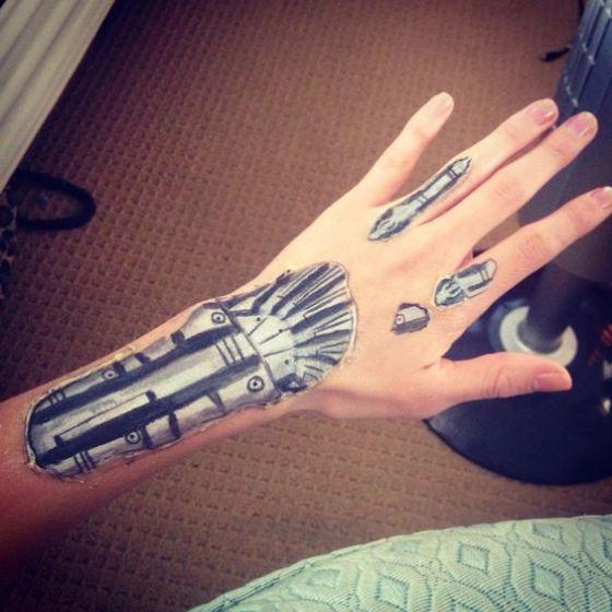 maquillaje tatuaje