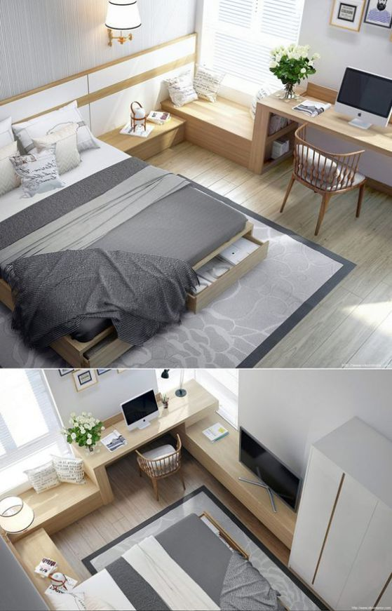 dormitorios modernos neutros