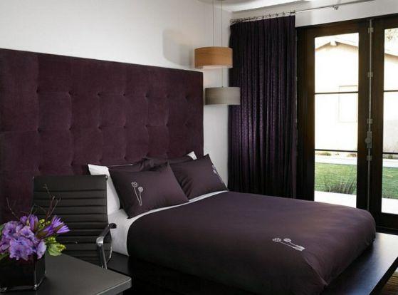 dormitorios modernos purpura