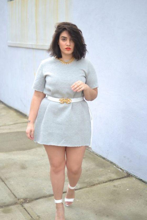 minifalda chicas gordas