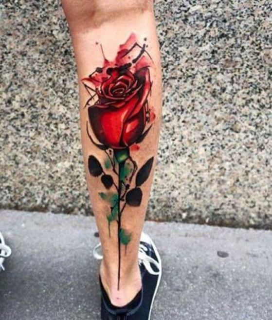 spines tatuaje rosa