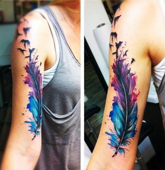 tattoo feather plumas