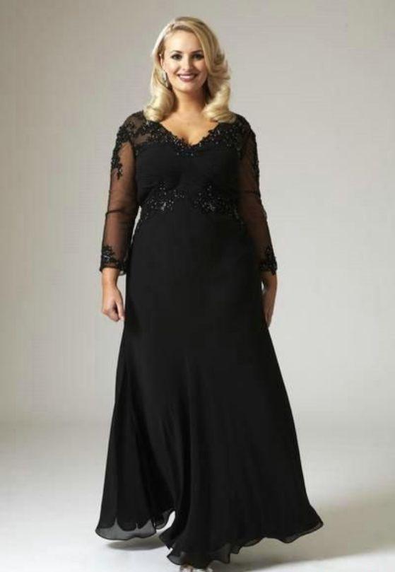 vestido elegante para gorditas